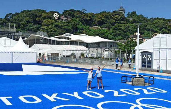 Cuenta regresiva para Lourdes  en las aguas de Enoshima