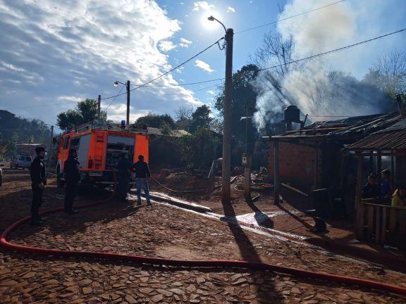 Se incendió una vivienda y advierten sobre el uso de artefactos para calefaccionar
