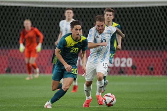JJOO: la Selección Argentina Sub 23 tropezó en su debut olímpico ante Australia